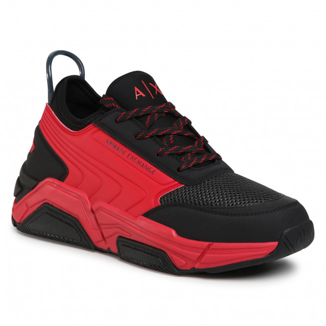 Sneakersy ARMANI EXCHANGE - XUX080 XV258 R596 Black/Red/Asphalt