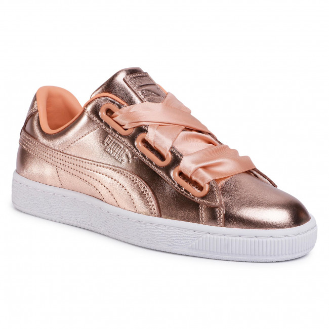 Sneakersy PUMA - Basket Heart Luxe Wn's 366730 03 Dusty Coral/Puma White