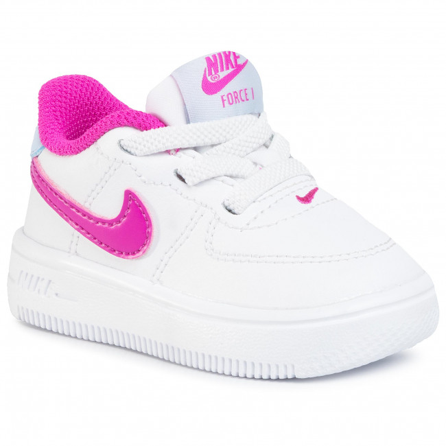Buty NIKE - Force 1 '18 (TD) 905220 103 White/Fire Pink/Hydrogen Blue