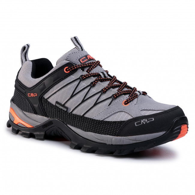 Trekkingi CMP - Rigel Low Trekking Shoes Wp 3Q54457 Cemento/Nero 75UE