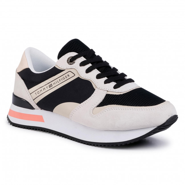 Sneakersy TOMMY HILFIGER - Feminine Active City Sneaker FW0FW04696 Black BDS