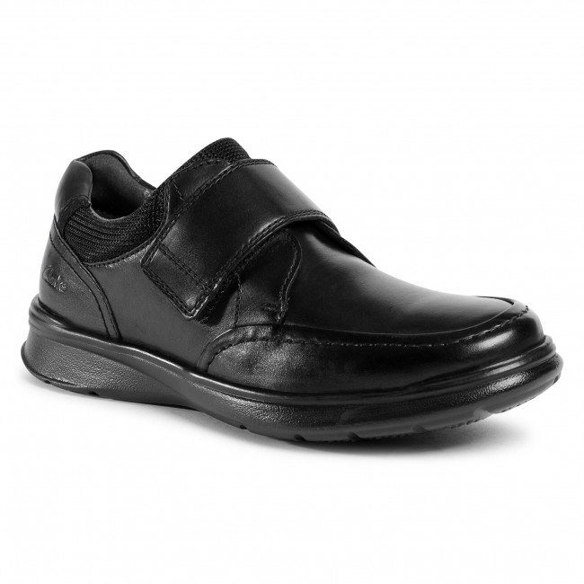 Półbuty CLARKS - Cotrell Strap 261551767  Blk smooth Leather