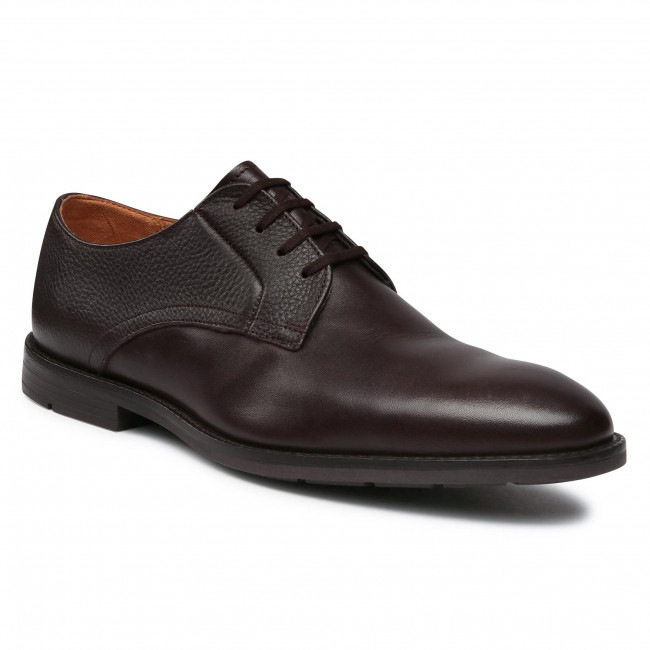 Półbuty CLARKS - Ronnie Walk 261523067  Dark Brown