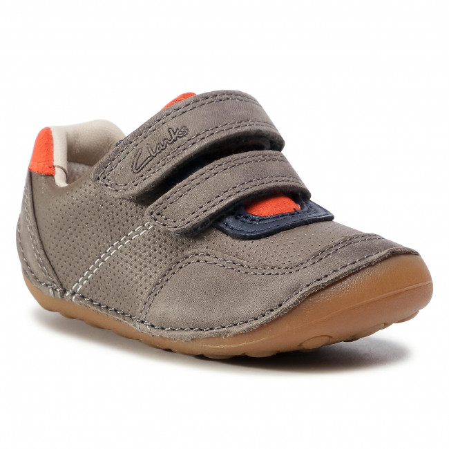 Półbuty CLARKS - Tiny Dusk T 261547237 Grey Combi Leather