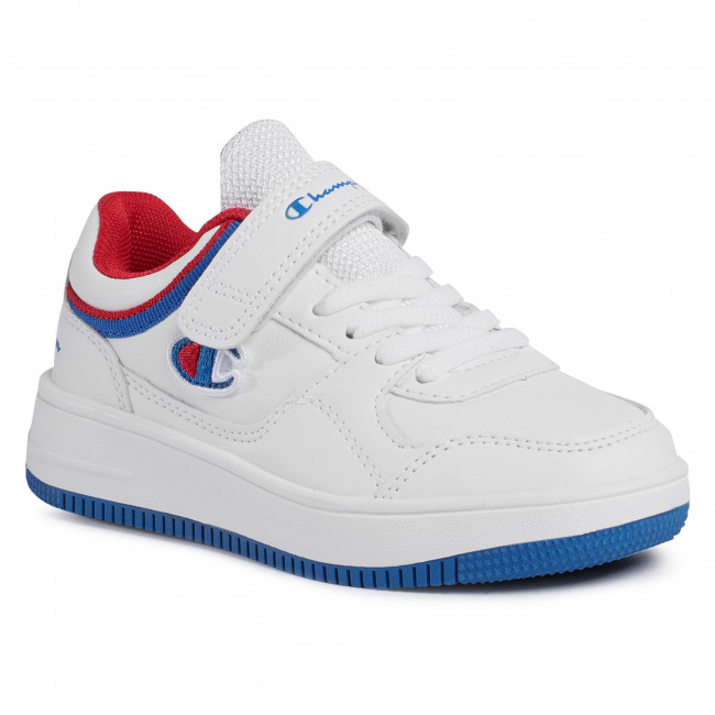 Sneakersy CHAMPION - Rebound Low B Ps S31967-F20-WW001 Wht/Rbl/Red