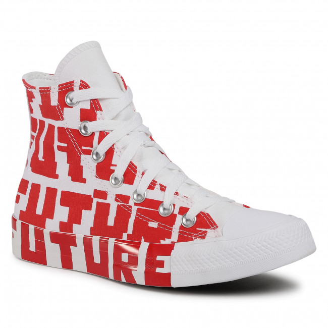 Trampki CONVERSE - Ctas Hi 168554C University Red/White/White