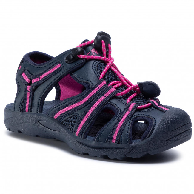 Sandały CMP - Kids Aquarii Hiking Sandal 30Q9664  B.Blue/Corallo
