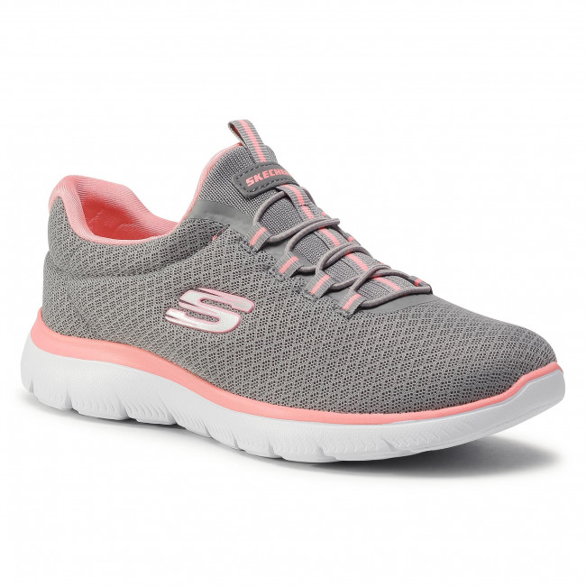 Buty SKECHERS - Summits 12980/GYPK Gray/Pik