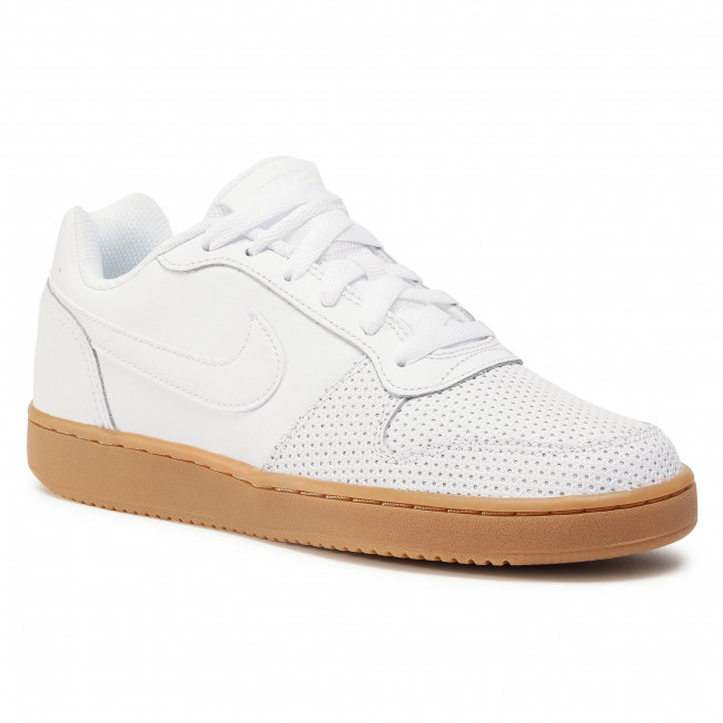 Buty NIKE - Ebernon Low Prem AQ2232 101 White/White/Gum Light Brown