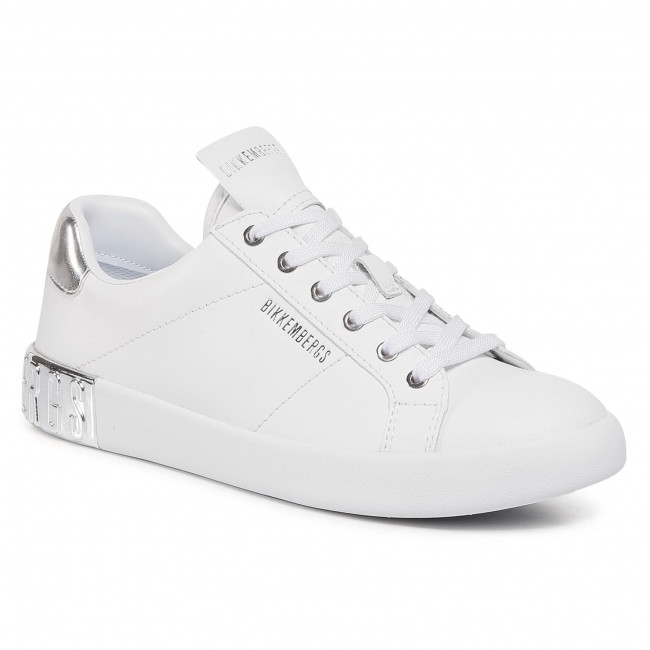 Sneakersy BIKKEMBERGS - Low Top Lace Up B4BKW0134 White/Silver