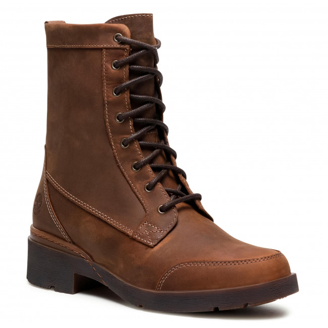 Botki TIMBERLAND - Graceyn Mid Lace Up Wp TB0A2F8EF13 Rust Full Grain