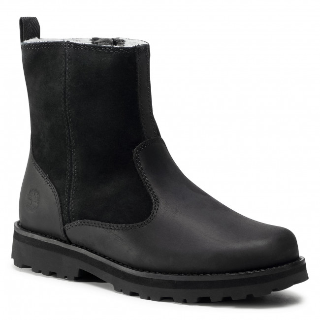 Trapery TIMBERLAND - Courma Kid Warm LinedBoot TB0A2MR5001 Black Full Grain