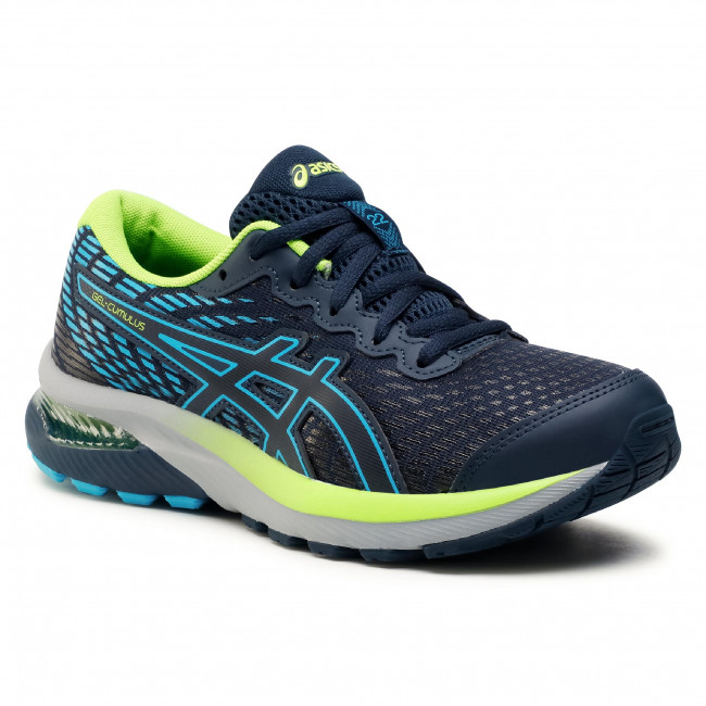 Buty ASICS - Gel-Cumulus 22 Gs 1014A148 French Blue/Hazard Green 403