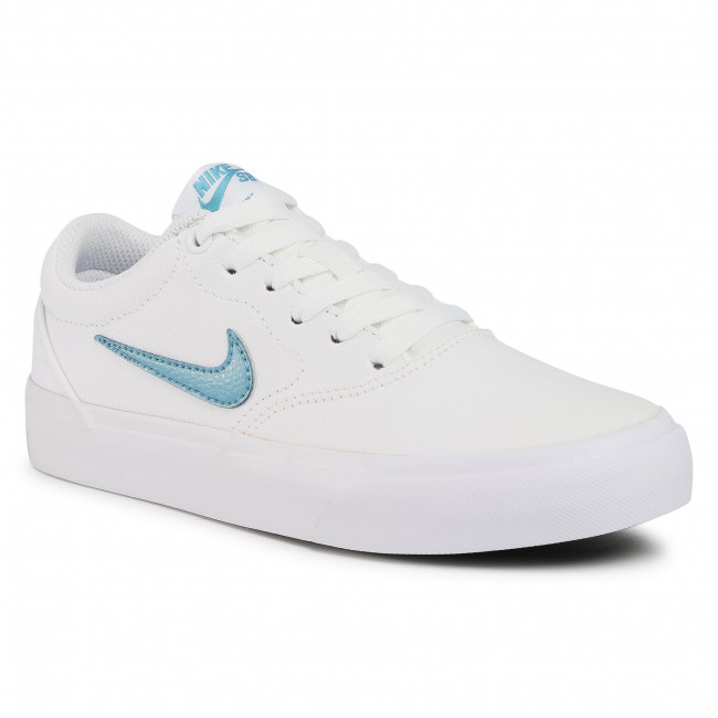 Buty NIKE - Sb Charge Cnvs (Gs) CQ0260 100 White/Cerulean/White/Black