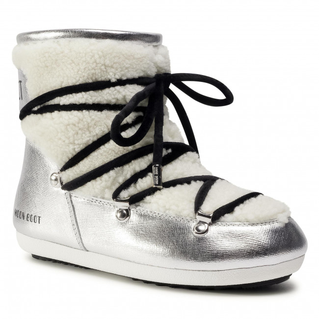 Śniegowce MOON BOOT - Dk Side Low Saffiano 24300900001 Silver