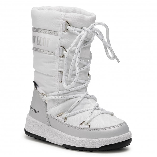Śniegowce MOON BOOT - Jr G.Quilted Wp 34051400004 M White/Silver