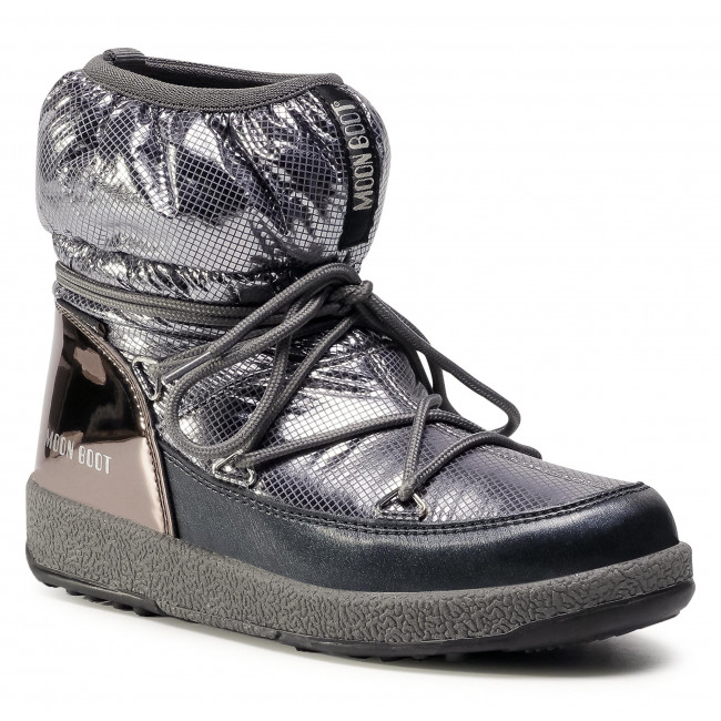Śniegowce MOON BOOT - Jrgirl Low Nylon Premium Wp 34052300002 D Metal Gun