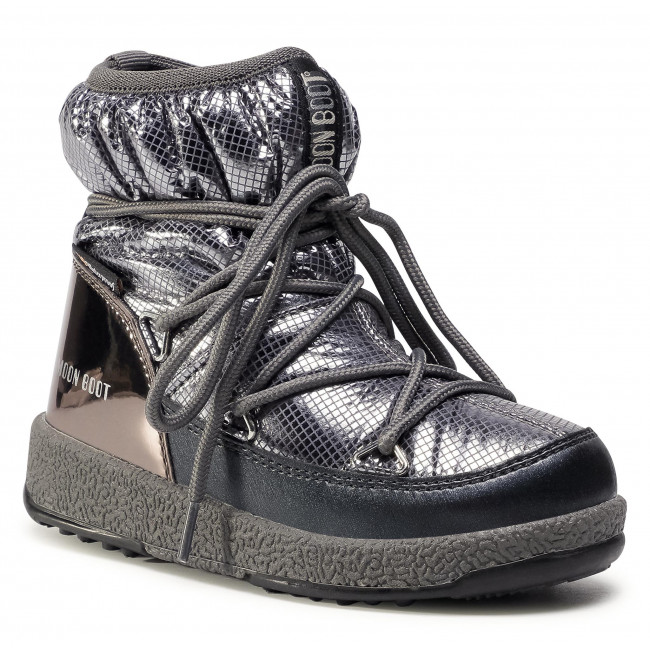 Śniegowce MOON BOOT - Jrgirl Low Nylon Premium Wp 34052300002 M Metal Gun