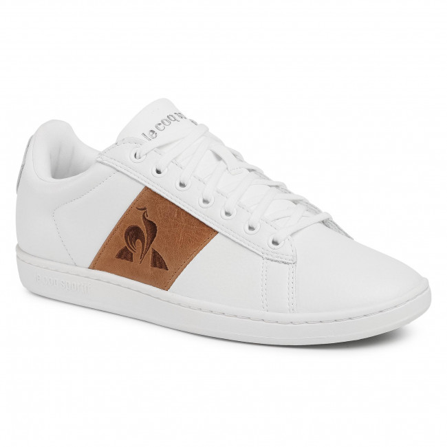 Sneakersy LE COQ SPORTIF - Court Classic 2020025 Optical White/Brown