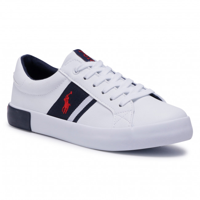Sneakersy POLO RALPH LAUREN - Gregot RF102513  White/Nvy/Red