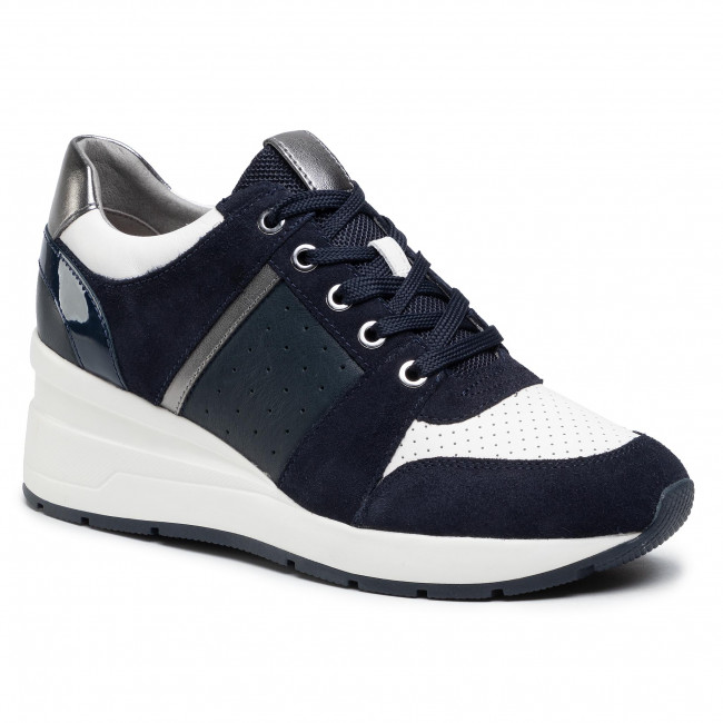 Sneakersy GEOX - D Zosma A D158LA 02285 C0836 Navy/Off Whie