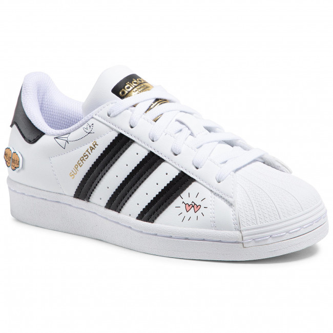 Buty adidas - Superstar J FX5202 Ftwwht/Black/Goldmt