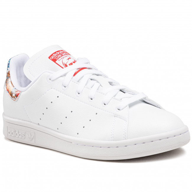 Buty adidas - Stan Smith W FY5093  Cloud White / Collegiate Royal / Vivid Red