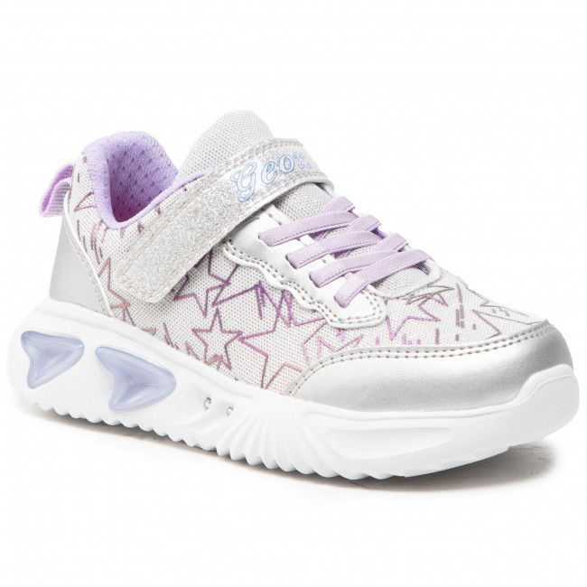 Sneakersy GEOX - J Assister G.A J15E9A 0GFKN C1316 DD  Silver/Lilac
