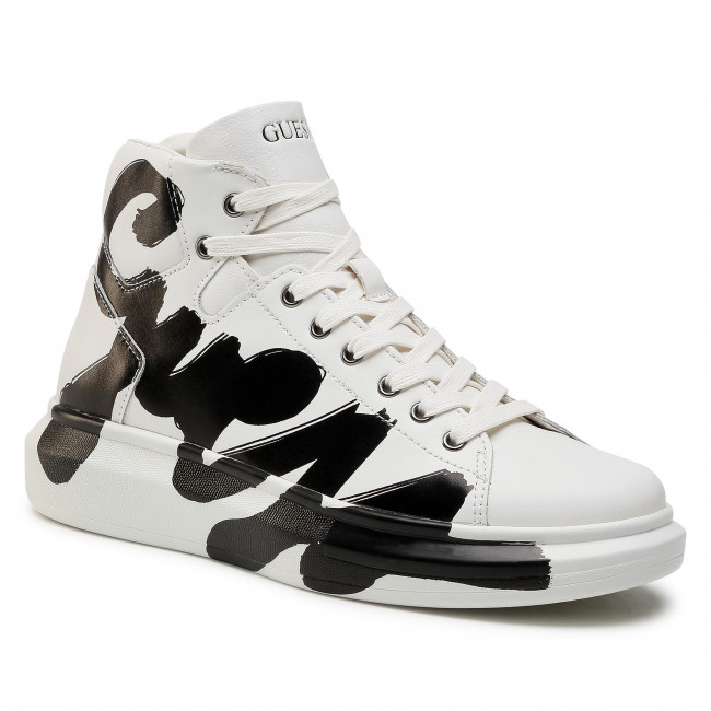 Sneakersy GUESS - Salerno Mid FM5SLM LEA12 WHITE