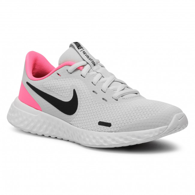 Buty NIKE - Revolution 5 (GS) BQ5671 010 Photon Dust/Black/Hyper Pink