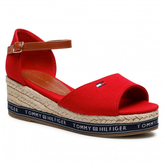 Espadryle TOMMY HILFIGER - Rope Wedge Sandal T3A2-31056-0048 M Red 300