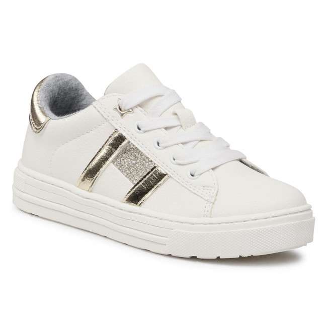 Sneakersy TOMMY HILFIGER - Low Cut Lace-Up Sneaker T3A4-31023-0813 M White/Platinum X048