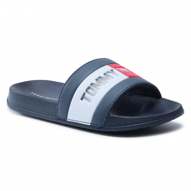 Klapki TOMMY HILFIGER - Flag Print Pool Slide T3B0-31122-1174 M Blue 800