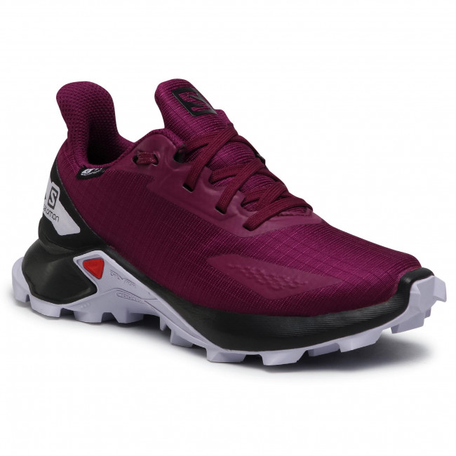 Buty SALOMON - Alphacross Blast Cswp J 412908 09 V0 Plum Caspia/Black/Purple Heather