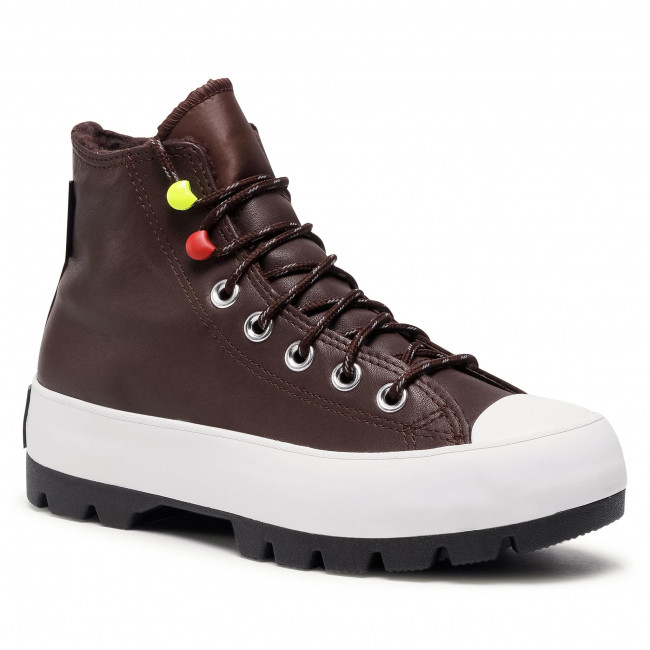 Trampki CONVERSE - Ctas Lugged Winter Hi GORE-TEX 569556C  Dark Root/White/Black