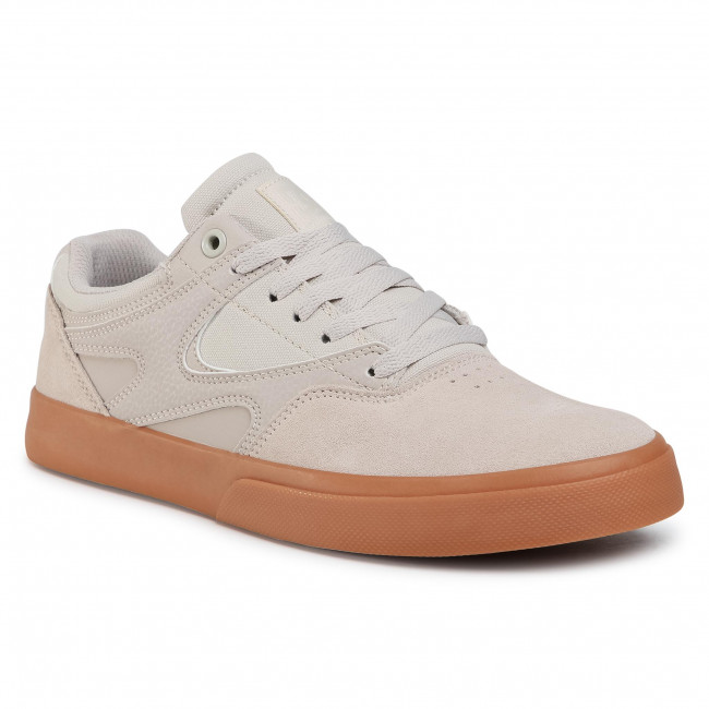 Sneakersy DC - Kalis Vulc ADYS300569 Light Grey (LRG)