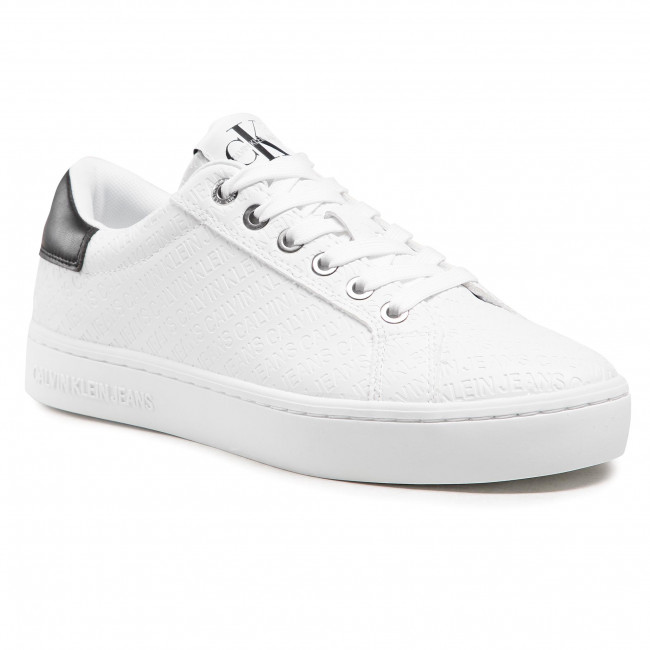 Sneakersy CALVIN KLEIN JEANS - Cupsole Sneaker Laceup Em Pu-Ny YW0YW00062 Bright White YAF