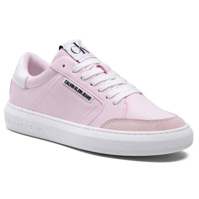 Sneakersy CALVIN KLEIN JEANS - Cupsole Sneaker Laceup Pu-Ny YW0YW00064 Pearly Pink TN9