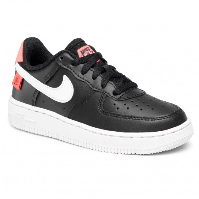 Buty NIKE - Force 1 Ww (PS) CN8539 001 Black/White/Flash Crimson