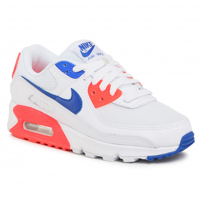 Buty NIKE - Air Max 90 CT1090 100 White/Racer Blue/Flash Crimson