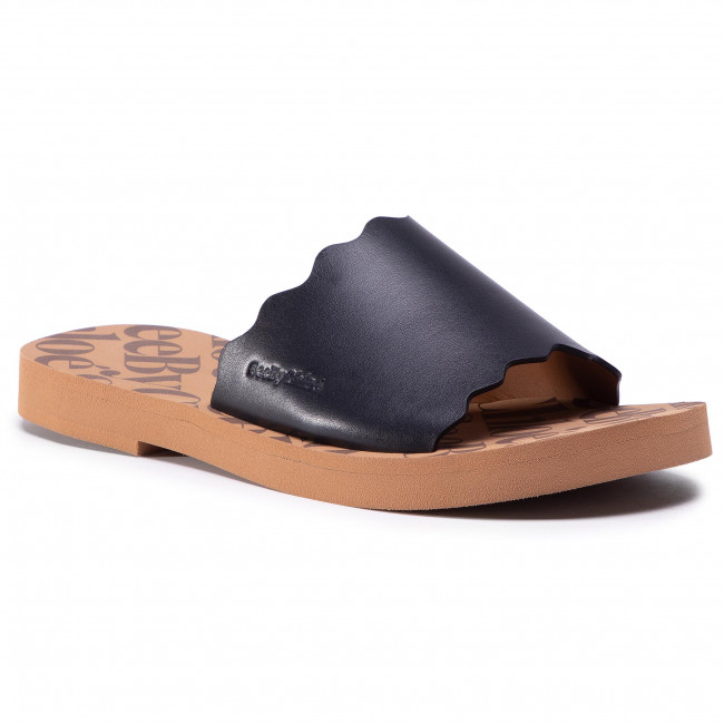 Klapki SEE BY CHLOÉ - SB35180A Black/Light Brown 990