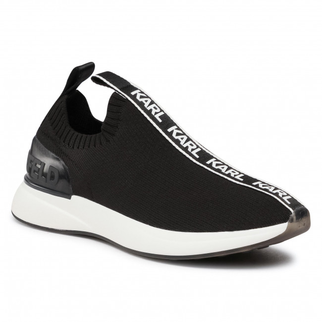 Sneakersy KARL LAGERFELD - KL62115 Black Knit Textile