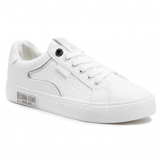 Sneakersy BIG STAR - HH274075 White/Silver