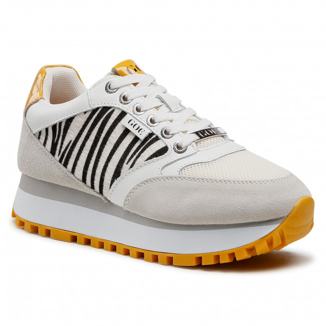 Sneakersy GOE - HH2N4001 White/Yellow