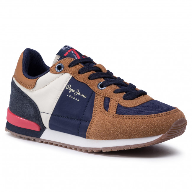 Sneakersy PEPE JEANS - Sydney Combi Boy PBS30452  Tobacco 859