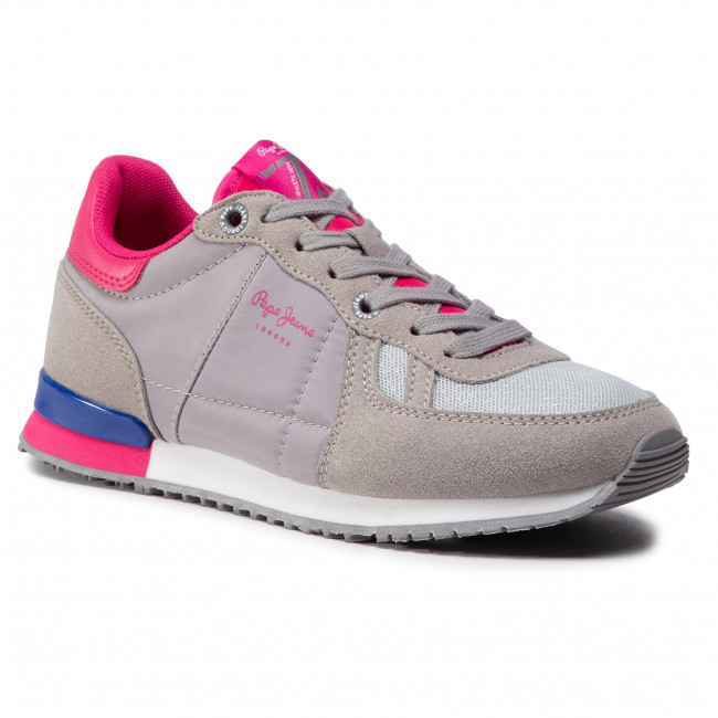 Sneakersy PEPE JEANS - Sydney Basic Girl PGS30452 Grey Marl 933
