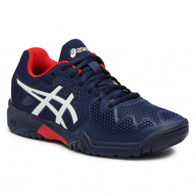 Buty ASICS - Gel-Resolution 8 Gs 1044A018 Peacoat/Classic Red 400