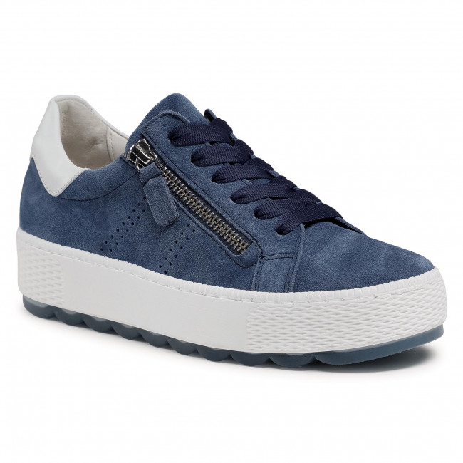 Sneakersy GABOR - 66.538.16 Jeans/Weiss
