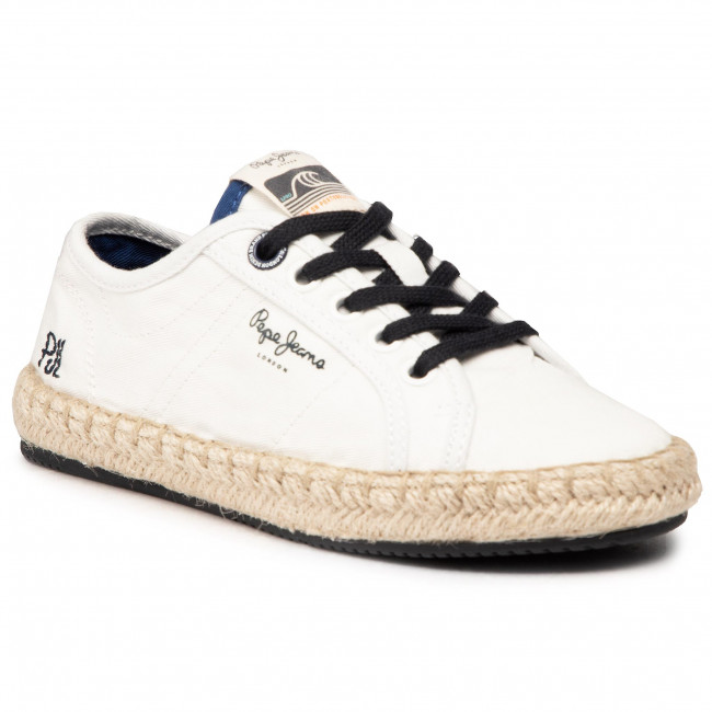 Espadryle PEPE JEANS - Tourist Combi Boy PBS10093 Off White 803