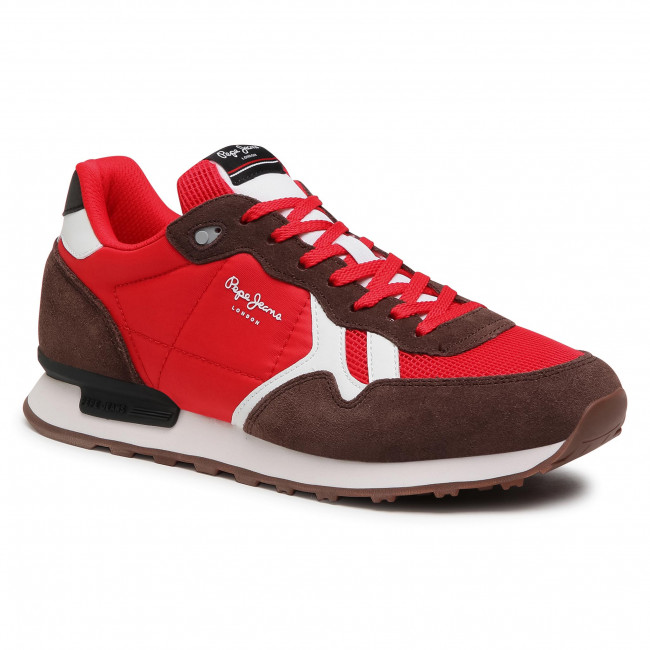 Sneakersy PEPE JEANS - Britt Man Basic PMS30721 Red 255